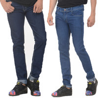 Vrgin Blue combo of 2 mens slim fit jeans