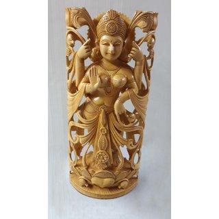 Handicraft Wooden Luxmi Carved 16 Inches