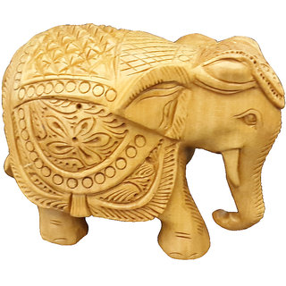 Handicraft Wooden Elephant Carved