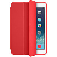 Leather Smart Case Red Color For Apple iPad Air 2