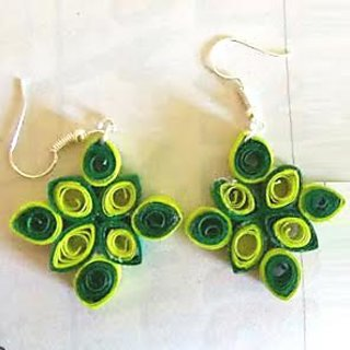 Handmade Paper Quilled Earring For Womens