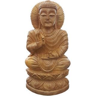 Handicraft Wooden Mahatma Buddh