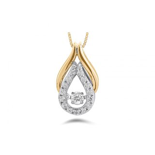 SILVOSKY 92.5 Sterling Silver Yellow Gold Plated Silver Pendant SP30035-P