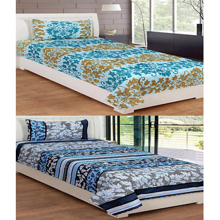 ShopSince Floral Single Bedsheet Set of 2