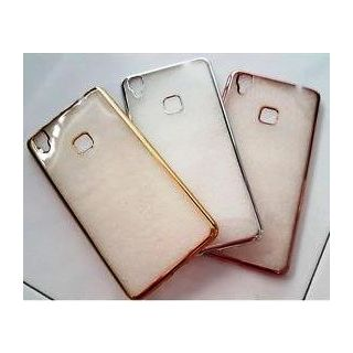 Vivo Y51 Golden Bumper Transparent Flip Cover