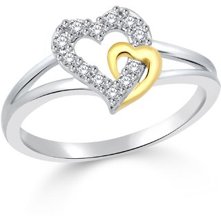 Classic Couple Gold  Rhodium Plated Ring for Women Size8 CJ1032FRRG8