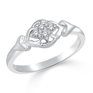 Classic Shine Heart  (CZ) Rhodium Plated Ring for Women Size 12 CJ1003FRR12