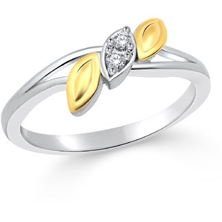 Classic Trinity Gold  Rhodium Plated Ring for Women Size15 CJ1031FRRG15