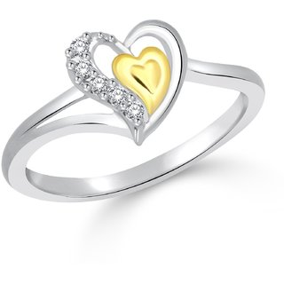 Classic Innocent Love Ring  Gold  Rhodium Plated Ring for Women Size11 CJ1033FRRG11