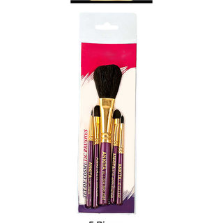 Set Of 5 Cosmetic Brushes-Color