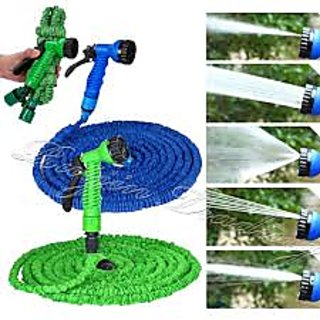 Expandable Hose 50FT Water Pipe Working Lenght 15M Retractable Hose Garden Water Hose+Spray Gun