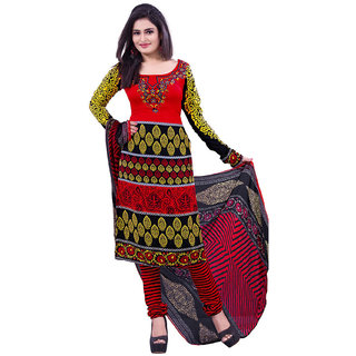 Fabnil Casual Wear Multi Colored Leon Printed Dress Material