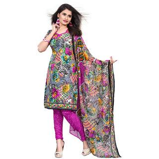 Fabnil Casual Wear Multi Colored Leon Printed Dress Material