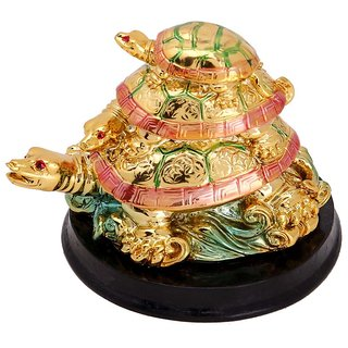 Astro Guide three tiered multicolor tortoise with base
