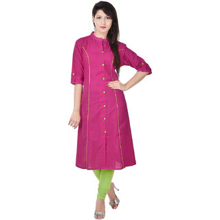 Beautiful Cotton Solid Pink Kurti From the house of Palakh