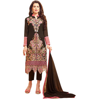 Khushi Trendz Faux Georgette Coffee Se Stitched Salwar Suit