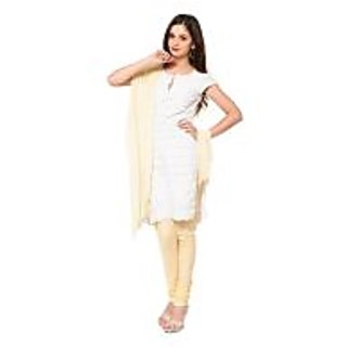 Churidar and Dupatta Set - Cream
