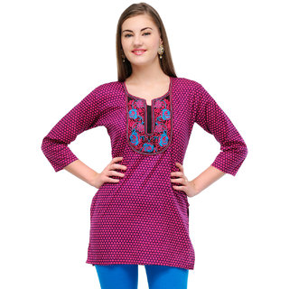 Cotton Pink Sweet Heart Kurti