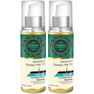 Morpheme Advanced Therapy Hair Oil - 100 Ml (Anti Hair Fall, Hair Loss  Hair Repair) - 100 Ml - 2 Bottles
