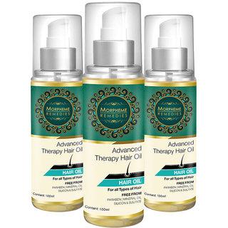 Morpheme Advanced Therapy Hair Oil - 100 Ml (Anti Hair Fall, Hair Loss  Hair Repair) - 100 Ml - 3 Bottles