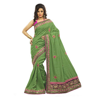 Xclusive Chhabra Georgette Green Saree