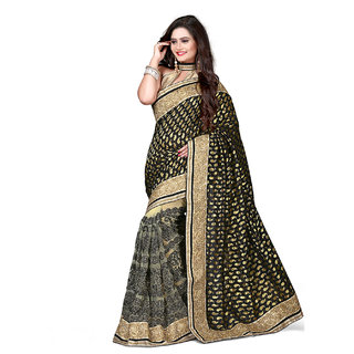Xclusive Chhabra Georgette Black Saree