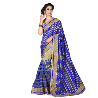 Xclusive Chhabra Georgette Blue Saree