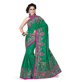Xclusive Chhabra Georgette Green Saree