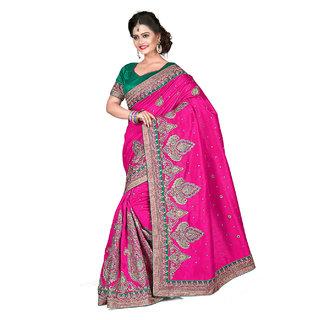 Xclusive Chhabra Georgette Pink Saree