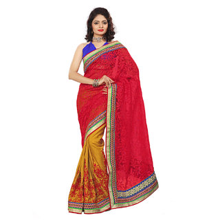 Xclusive Chhabra Georgette Red Saree