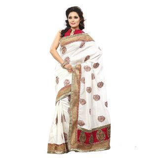 Xclusive Chhabra Georgette White Saree