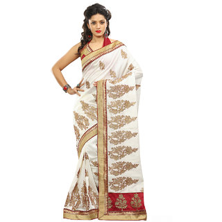 Xclusive Chhabra Georgette White Saree