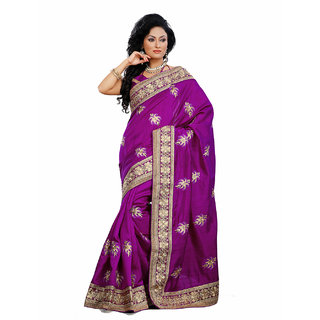 Xclusive Chhabra Georgette Purple Saree