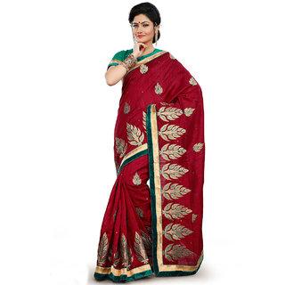Xclusive Chhabra Georgette Maroon Saree