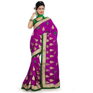Xclusive Chhabra Georgette Purple Saree