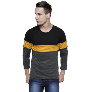 Rigo Men's Multicolor Round Neck T-shirt