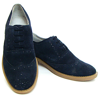 Brogue In Suede Leather
