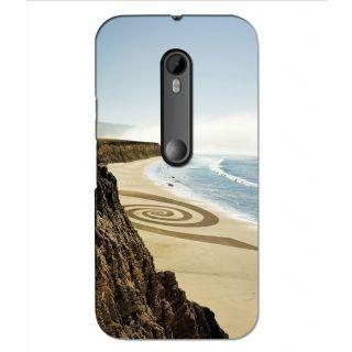Instyler Premium Digital Printed 3D Back Cover For Moto G3