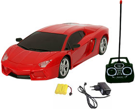 Fantasy India Rechargeable Remote Control Toy Car (124) - (Red/Yellow/Orange)