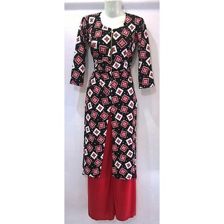 Cotton Women Kurti Semi Stitched