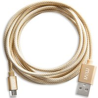 DS 6 Ft Long Nylon Braided Original Tough Gold Micro USB Cable