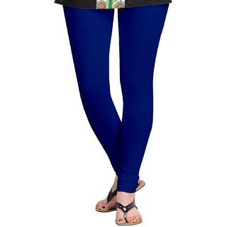 Womens Cotton Lycra Blue Leggings