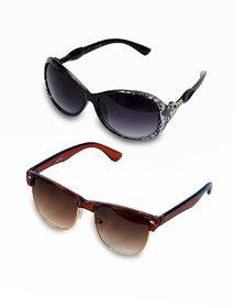 Buy One Women Sunglass And Get One Men Wayfarer Sunglass Free