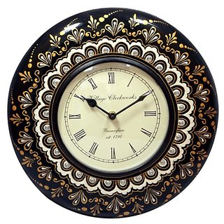 Indian Artware Handpainted analog wall clock