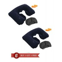 3 In 1 Travel Set-air Neck Pillow Cushion Car-eye Mask Sleep Rest Shade-ear  BUY 1 GET 1 FREE