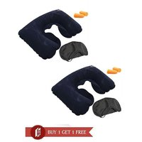 3 In1 Travel Neck Inflatable Air Pillow Eye Mask And Ear Plugs Combo  BUY 1 GET 1 FREE