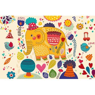 Buy Walls And Murals Ethnic Pattern Nature Wallpaper For Kids Room Peel And Stick Wallpaper In Different Sizes 24 X 36 Online Get 40 Off