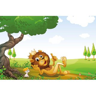 Walls and Murals Jungle Lore Custom Kids Peel and Stick Wallpaper in Different Sizes (24 x 36)