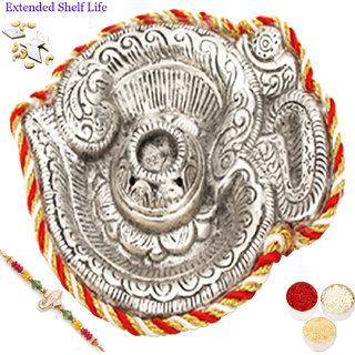Rakhi Pooja Thalis-Om Silver Pooja Thali-r1