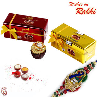 Beautiful Chocolate Pack with Traditional Rakhi
